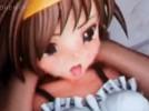 [3Dエロアニメ] 涼宮ハルヒが男たちにマンコとアナルに2穴挿入される!