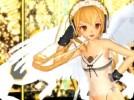 【3Dエロアニメ】 天使コスの金髪ツインテール美少女のエロダンス