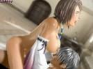 【3Dエロアニメ】 FFのユウナと騎乗位、後背位、正常位でガッツリセックス
