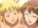 【エロアニメ】 金髪ツインテール妹とメガネ美人な姉のレズシーン見せつけられたあとダブルフェラされたったwww