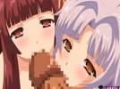【エロアニメ】 館のお嬢様と使用人の美少女にダブルフェラされて赤ちゃんの素くださいってお願いされて3pセックスwww