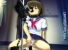 【エロアニメ】 制服美少女が強制ディープスロートするイラマチオマシーンでゲロ吐きながら快感オナニー