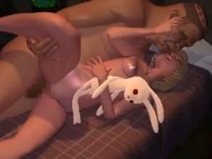【3Dエロアニメ】 汚らしいハゲオヤジや怪物たちに犯され続ける幼気な少女たちw