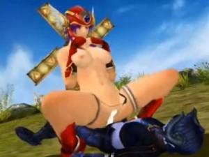 【3Dエロアニメ】 悪魔少年をおねショタ逆レイプ騎乗位セックスする女戦士