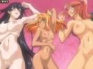 【エロアニメ】 巨乳美女ふたりと貧乳ツンデレ褐色娘と4pセックス