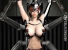 【3Dエロアニメ】 強い女を卑怯な手段で捕らえて拘束してエロいことする卑劣漢w
