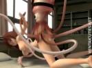 【3Dエロアニメ】 美少女がイカ医者に触手診察されてオマンコ犯されちゃう