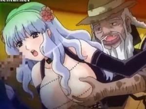 【エロアニメ】 銀髪美少女が汚らしい浮浪者に輪姦調教レイプされちゃう