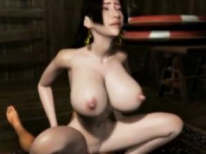【3Dエロアニメ】 媚薬で快楽堕ちしてチンポおねだり騎乗位セックスしちゃうワンピースのボアハンコック