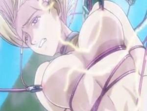 【エロアニメ】 変態エイリアンに性的拷問を受けてイカされる金髪美女