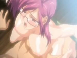【エロアニメ】 媚薬飲まされて複数の男たちに輪姦レイプされてアヘアヘになる巨乳メガネ女教師