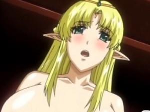 【エロアニメ】 辱められている双子の妹のために妹の前でオナニーさせられるエルフのお姉ちゃん
