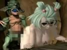 【3Dエロアニメ】 醜いゴブリンチンポで犯される巨乳メガネっ娘