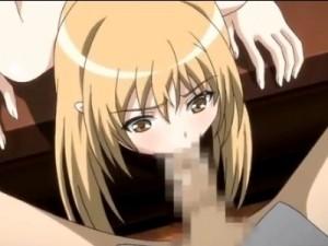 【エロアニメ】 カルトセックス教団に潜入して男のチンポ嫌々しゃぶらされ精液ゴックンさせられる金髪美少女