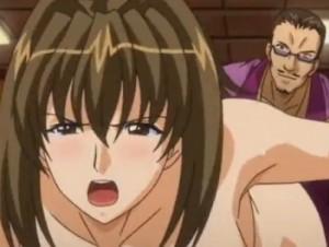 【エロアニメ】 旦那を殺した男に娘の目の前で犯されアナル処女奪われる未亡人