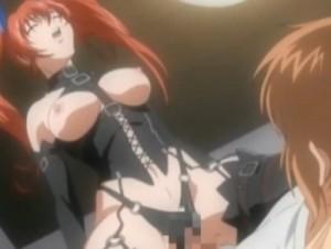 【エロアニメ】 ボンデージ姿のドSなツインテ―ル処女お姉ちゃんに脚舐めさせられて逆レイプ中出し騎乗位セックス