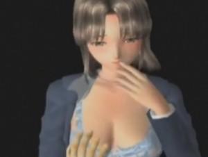 【3Dエロアニメ】 暗闇で痴漢されて下着の中に手を突っ込まれるスーツ姿のお姉さん