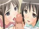 【エロアニメ】 ツンデレ妹と同級生が同時に告白してきて野外テニスコートでダブルフェラ