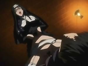 【エロアニメ】 猟奇殺人犯のシスターに捕らわれて拘束逆レイプされ殺されかける主人公