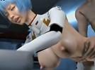 【3Dエロアニメ】 アナルにデカチン突っ込まれ犯され痛がりながら感じる綾波レイ