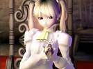 【3Dエロアニメ】 夫を生き返らせるために儀式オナニーする高貴な金髪ツインテール美少女