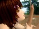 【3Dエロアニメ】 幼馴染の少女に教室でフェラチオされてラブ握り中出しセックス