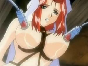 【エロアニメ】 お股に縄食い込ませ搾乳されながら歩かされる快楽拷問を受ける美女