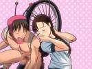 【エロアニメ】 自転車の精を名乗る変態男に騙されて頭の弱い三つ編みブルマ美少女がウィリー走行セックス