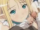【エロアニメ】 エルフコスプレした美少女先輩のアナルほじくって校舎でコスプレエッチ