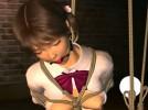 【3Dエロアニメ】 緊縛宙吊りで監禁調教される少女