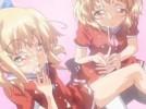 【エロアニメ】 金髪ちっぱい双子妹のキツキツオマンコ挿れ比べ近親相姦中出し姉妹丼セックス