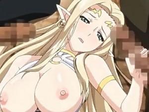 【エロアニメ】 戦に負けて性奴隷に堕ち男たちに性的奉仕する金髪巨乳女神