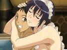 【エロアニメ】 お姉ちゃんメイドに手コキされながらおっぱいで背中洗われフェラされ生ハメセックス