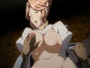 【エロアニメ】 裏切った義父に捕らわれて夫の前で寝取られ種付けセックスされる巨乳人妻女騎士
