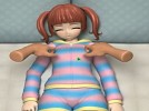 【3Dエロアニメ】 寝ている女の子のおっぱいにオマンコいじるエッチないたずら