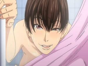 【エロアニメ】 シャワー室で友達と会話しながらバレないようにチンポハメられおしっこ漏らしてイカされる巨乳少女