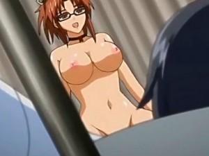 【エロアニメ】 目が覚めたら両手足拘束され女教師にフェラされてて逆レイプで童貞卒業初中出し