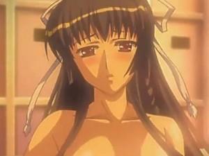 【エロアニメ】 ポニテ先輩の愛液ダラダラおまんこにオチンポ挿入セックスしてお掃除パイズリフェラしてもらうw