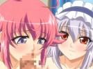 【エロアニメ】 美少女にWフェラされながらメガネ美女に顔面騎乗位され三人まとめて潮吹かせヒーヒー言わせるハーレムセックス