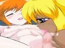 【エロアニメ】 褐色美少女に童貞包茎チンポ責められて精液ピュッピュさせられちゃう男の娘