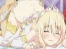 【エロアニメ】 金髪ツンデレお姫様とシックスナインでイカセっこして処女オマンコにオチンポ挿入セックス