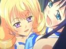 【エロアニメ】 ふたなりオチンポ付きの清楚なお嬢様アイドルがドS金髪美少女に金玉揉み手コキにフェラで精通射精させられるw