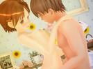 【3Dエロアニメ】 微乳美少女にエッチのハウツー本音読させながらのイチャラブセックス