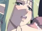 【エロアニメ】 金髪エルフの人妻女王にパイズリフェラチオ奉仕させて母乳噴き出し中出しレイプ