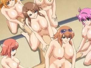 【エロアニメ】 巨乳美少女たちにお仕置き逆レイプ輪姦されて精液搾り取られるw