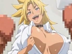 【エロアニメ】 ビッチ黒ギャルが童貞男子たち相手に筆下ろし中出しセックスの本番付きヌキサポで搾精しちゃうw