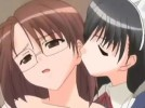 【エロアニメ】 メイドに双頭ディルドでアナルレズレイプにクリトリス調教されて好きな男の誘惑方法教え込まれるメガネっ娘