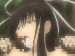 【エロアニメ】 お姫様と金髪巫女にレズ責めされて潮吹きイキする美女&オマンコとアナルに同時挿入中出しされちゃうくノ一少女