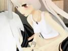 【3Dエロアニメ】 東方の上白沢慧音に生えた巨大ふたなりチンポを元に戻すためにふたなりセックスする藤原妹紅