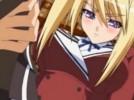 【エロアニメ】 金髪美少女の一日限定ご主人様になって手マンとクンニでオシッコお漏らしさせちゃうw